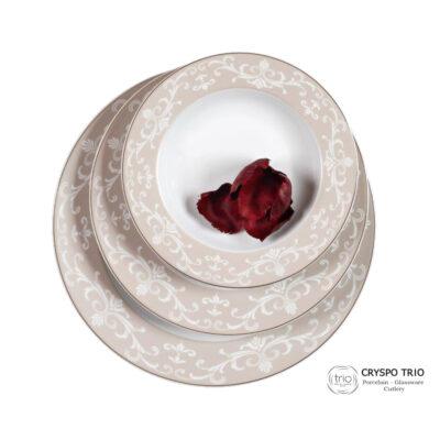 Σερβίτσιο Φαγητού Πορσελάνης Charlotte Oro