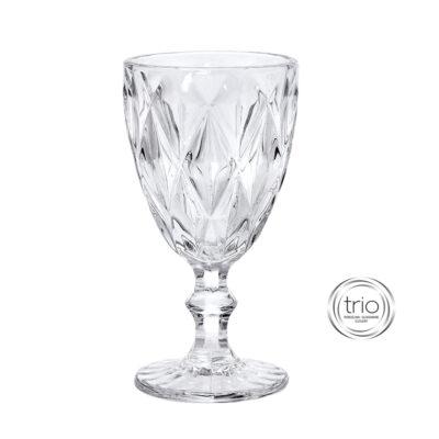 Σετ 6 Ποτήρια Κολωνάτα Κρασιού Clear