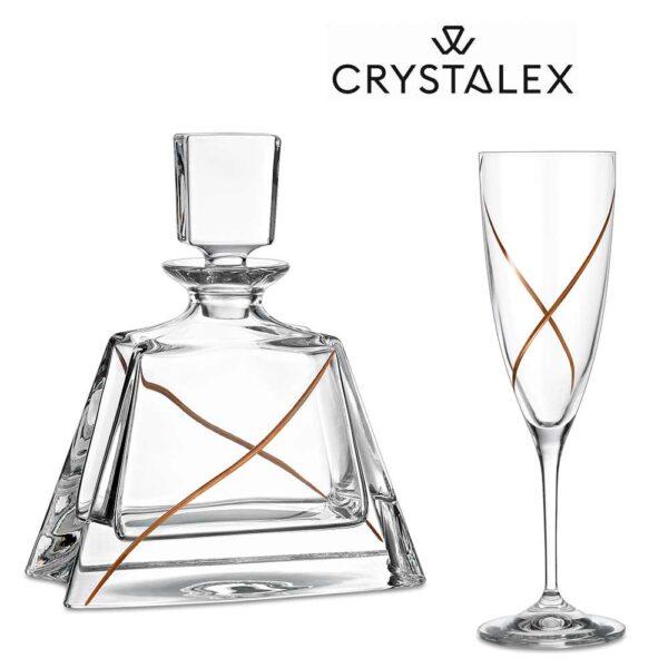 Κρυστάλλινο ποτήρι Γάμου LAV0441
