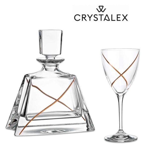 Κρυστάλλινο ποτήρι Γάμου LAV0442