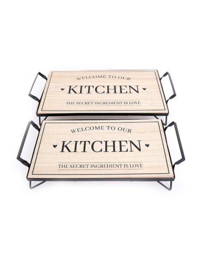 Δίσκος σε βάση ξύλινος KITCHEN 014.KG0751A