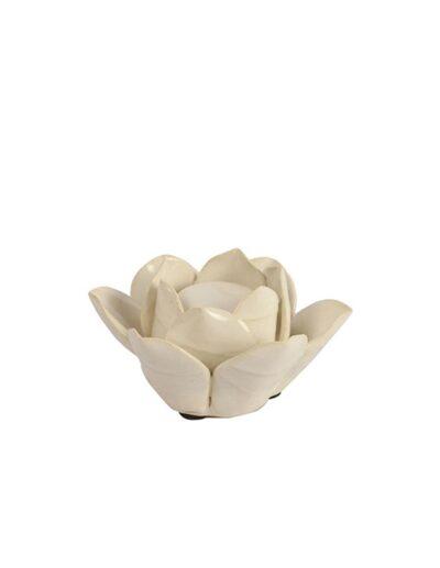 Κάκτος κεραμ.κηροπήγιο Malusha λευκό χρ. 10.5Χ5.5 013.781929