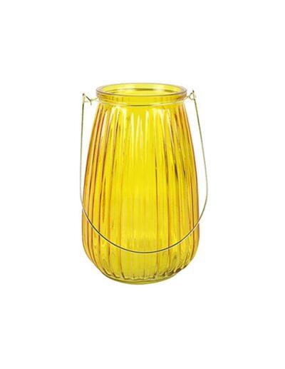 Κηροπήγιο γυαλ.κίτρινο χρ. 19Χ29 013.783413