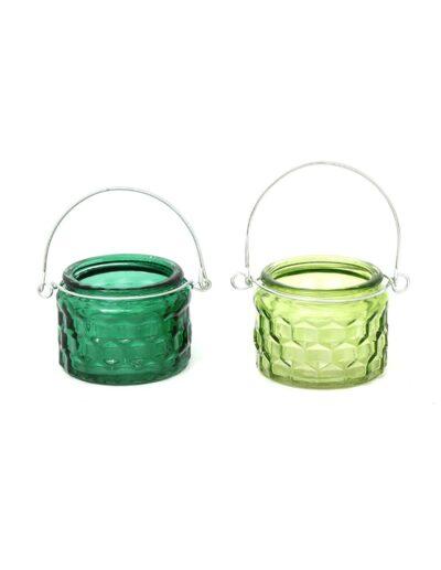 Κηροπήγιο για κερί πράσινα 2χρ. 5Χ6 014.CH5972