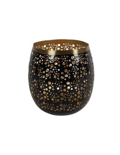 Κηροπήγιο μεταλ.μαύρο με χρυσό 16Χ16 013.785725