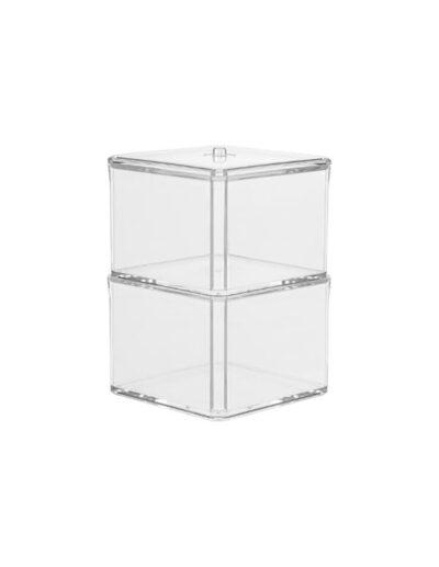 Θήκη για βαμβάκια διπλή plexiglass 07.155906