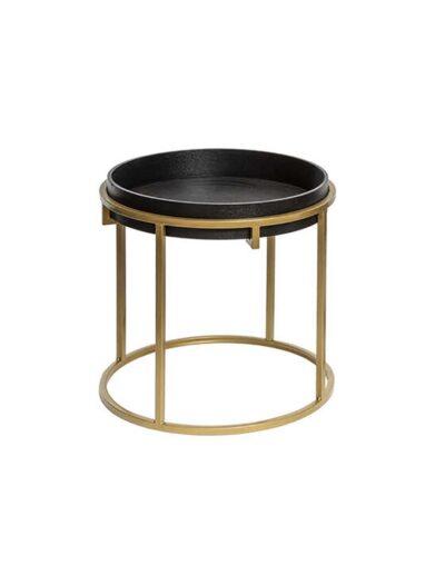 Τραπέζι βοηθ.χρυσά πόδια Φ48