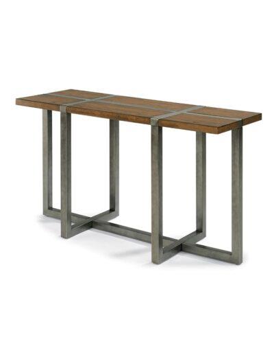 Τραπέζι ξύλινο καφέ με μεταλ.πόδια 135Χ40Χ90 00.00.0808